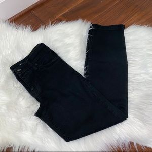 Level 99 Lily Crop Size 28 Black Crop Jeans